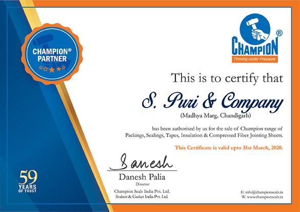 Dealership Certificate_2019-2020 27 S Puri & Company